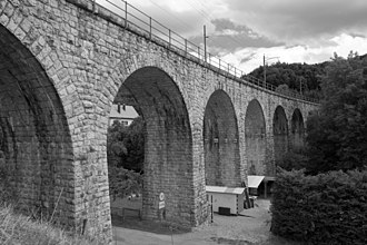 Corcelles, Bern - The Corcelles railway bridge stretches across the valley