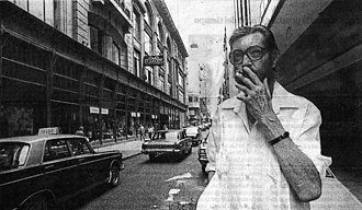 Julio Cortázar - Cortázar photographed in Buenos Aires in December 1983, when he returned after 10 years of exile in France