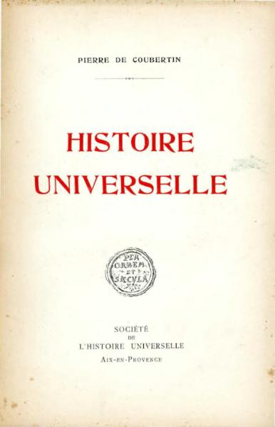 Fichier:Coubertin - Histoire universelle, Tome III, 1926.djvu