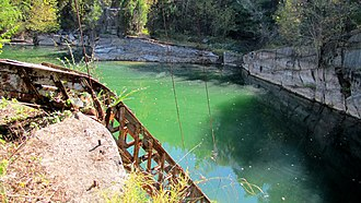 Tennessee marble - A now-abandoned John J. Craig Company quarry near Friendsville