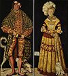 Cranach, Lucas the Elder  Ä.  - Double portrait of Duke Heinrich the Pious and wife of Duchess Catherine of Mecklenburg - 1514.jpg