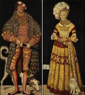 Portraits of Henry IV of Saxony and Catherine of Mecklenburg - Image: Cranach, Lucas d. Ä. Doppelbildnis Herzog Heinrichs des Frommen und Gemahlin Herzogin Katharina von Mecklenburg 1514