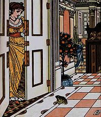 The Frog Asks To Be Allowed To Enter The Castle - Illustration For The Frog Prince, 1874