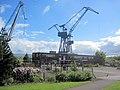 Cranes over graving dock at Bogston - geograph.org.uk - 2419385.jpg