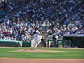 Cubs fans look on as Zambrano winds up (3496922601).jpg