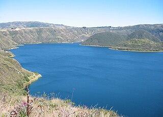 Cuicocha lake in Ecuador