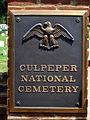 Culpeper National Cemetery Entrance Gate Plaque.JPG