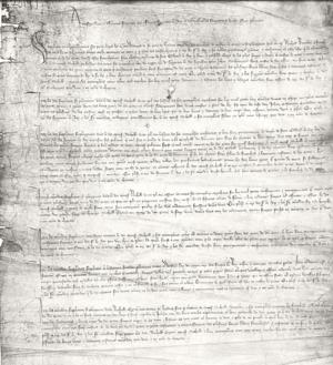 Nicholas Exton - Image: Cuttler petition against exton etc, 1388