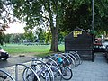 Cycle racks and a taxi-drivers' shelter - geograph.org.uk - 2469904.jpg