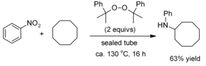 Cyclooctane - Amination of cyclooctane by nitrobenzene