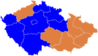 Czech legislative election, 2006 - Winning parties by region