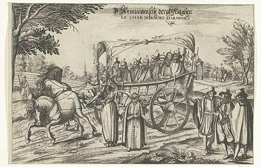 D'Arminiaensche dreckwaghen (titel op object) Le Char Dordure D'Arminies (titel op object), RP-P-OB-80.201