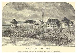 Fort Garry - Image: DENT(1881) 1.075 FORT GARRY, MANITOBA