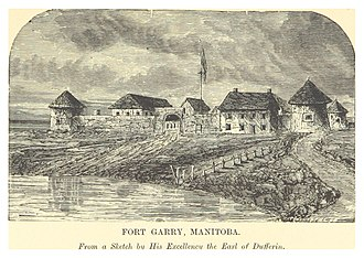 Fort Garry - Image: DENT(1881) 1.075 FORT GARRY, MANITOBA