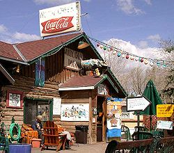 Woody Creek Tavern, a landmark business in Woody Creek