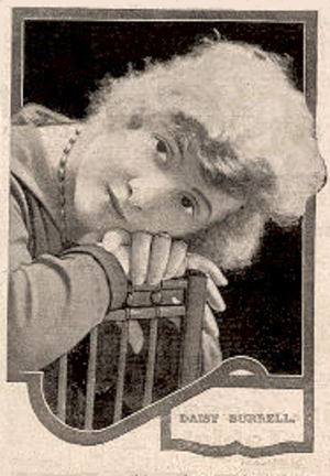 The Artistic Temperament - Daisy Burrell in 1919, on the cover of Pictures and Picturegoer