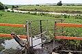 Damaged kissing gate to River Dearne at Barnburgh, South Yorkshire.jpg