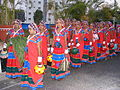 Dancers wearing traditional dress of the Banjara Lamadi or Lambani tribe in Andhra Pradesh DSCF7370 (8).JPG