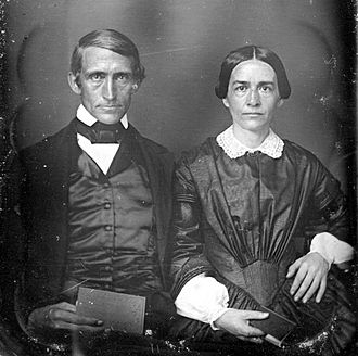 Daniel Dole - Dole and his second wife Charlotte, c. 1853.