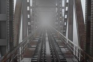 Danube Bridge - Image: Danube Bridge from the train