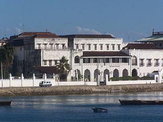 History of Zanzibar - The Sultan's Palace.