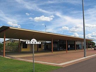 Darwin railway station - Station platform in April 2007