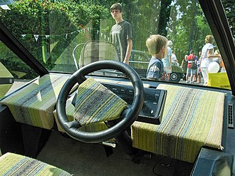 Microdot (car) - Image: Dashboard of Microdot concept (1975) by William Towns