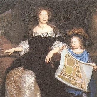 Gunterstein Castle - Image: David van der Plas Magdalena Poulle with Nephew Pieter 1683