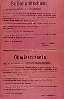 Death penalty for Jews outside ghetto and for Poles helping Jews anyway 1941