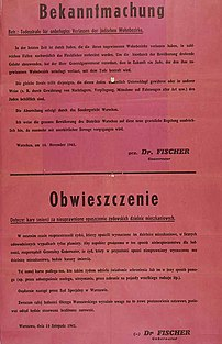 Nazi-German annoucement of death penalty for J...