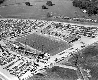 Doak Campbell Stadium - Aerial view of the dedication game during the inaugural season for FSU at Doak Campbell Stadium on October 7, 1950.