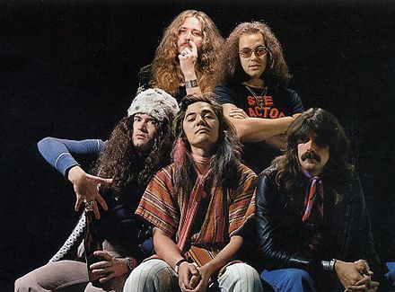 Promotional photo of Deep Purple for their 1976 UK Tour. From left to right: