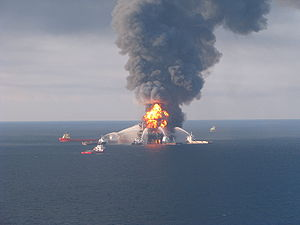 Fire boat response crews battle the blazing re...