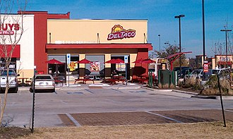 Del Taco - The Del Taco in Denton, Texas, which opened in 2010 and closed five years later.