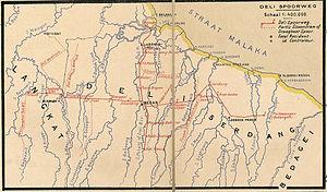 Deli Railway Company - 1893 map of the Deli Railway network