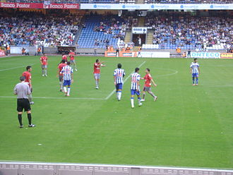 CA Osasuna - Osasuna playing against Deportivo in 2012.