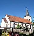 Der Turm der evangelische Unionskirche ist das älteste Bauwerk in Käfertal. - panoramio.jpg