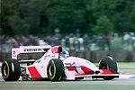Derek Warwick - Footwork FA14 during practice for the 1993 British Grand Prix (32873535493).jpg
