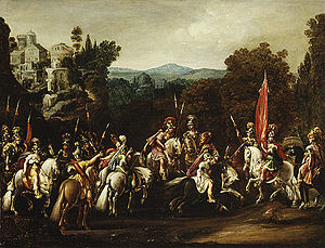 Departure of the Amazons, by Claude Deruet, 1620.