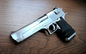 Desert Eagle 50 caliber brushed chrome