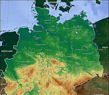 Map Of Germany Mountains.North German Plain Wikipedia