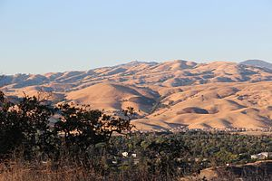 Diablo Range viewed from Santa Teresa County Park, July 2015
