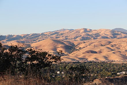 Santa Teresa County Park in South San Jose Diablo Range viewed from Santa Teresa County Park, July 2015.jpg