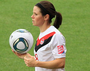 Diana Matheson - Matheson in the 2011 FIFA Women's World Cup