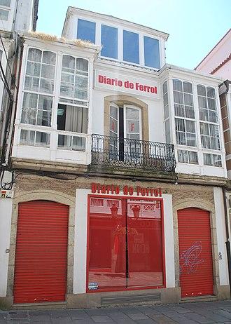 El Diario de Ferrol - Image: Diario de Ferrol sede rúa Galiano