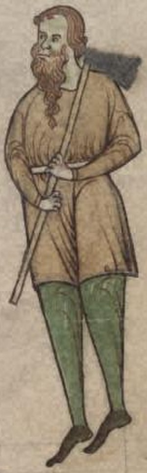 Derbforgaill - Diarmait Mac Murchada, King of Leinster from folio 56r of National Library of Ireland MS 700 (Expugnatio Hibernica)