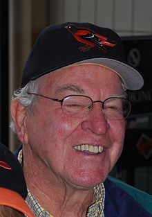 Dick Hall in a Baltimore Orioles baseball cap, undated