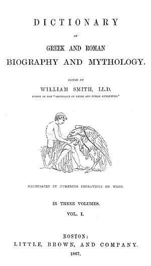 Dictionary of Greek and Roman Biography and Mythology - Image: Dictionary of Greek and Roman Biography and Mythology TITLE