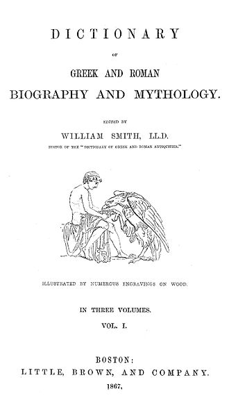 Dictionary of Greek and Roman Biography and Mythology - Cover of 1867 edition