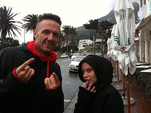 Die Antwoord Ninja and Yolandi on the street.jpg